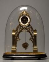 Lot 1278-A 19th Century brass portico clock, the...