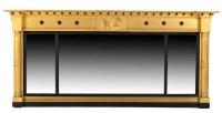 Lot 1338-A Regency giltwood and ebonised triple-plate...
