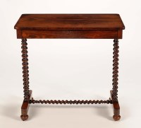 Lot 1354-A late Regency/William IV rosewood side table, by ...