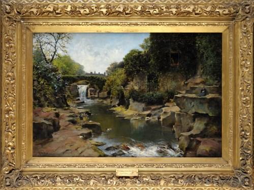 Lot 164-John Wallace (1841-1905) ''WATERFALL JESMOND DENE'...