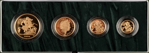 Lot 978-The 2004 United Kingdom Gold Proof Four Coin...