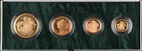 Lot 979-The 2005 United Kingdom Gold Proof Four Coin...