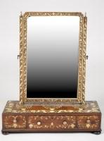 Lot 1381-† A Georgian mahogany and bone inlaid swing frame ...