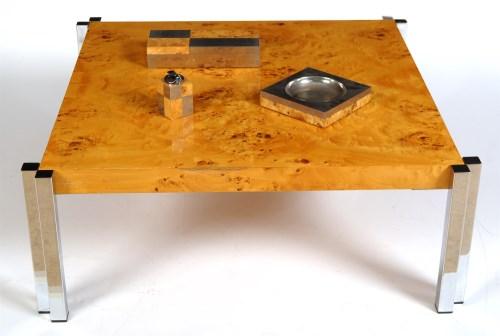 Lot 1404 - A Zevi square-shaped maple veneered Art Deco...