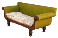 Lot 1871-A Regency scroll-end settee, decorated with...