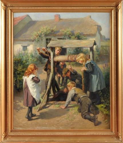 Lot 294-Ralph Hedley, RBA (1848-1913) ''DING DONG BELL...