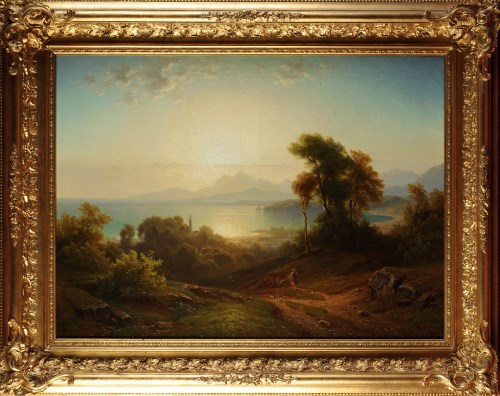 Lot 353-Gustav August Horst (German 19th Century) A...