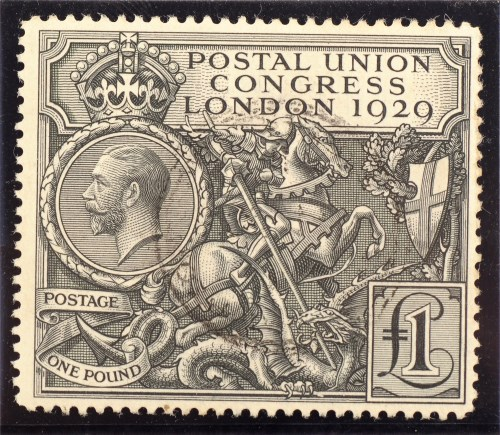 Lot 941-A King George V 1929 Postal Union Congress stamp, ...