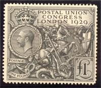 Lot 941-A King George V 1929 Postal Union Congress stamp, ...