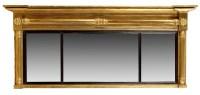 Lot 1037-A Regency breakfront overmantel mirror, decorated ...
