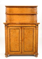 Lot 1134-A Regency burr elm veneered chiffonier with...