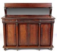 Lot 1168-A Regency mahogany sideboard with raised mirror...