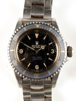 Lot 712-A steel cased Rolex Oyster Perpetual Submariner...