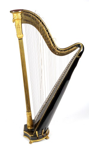 Lot 1174-An early 19th Century harp, by Dodd, St Martins...