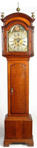 Lot 1216 - Joseph Finney, Liverpool: an oak longcase...