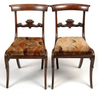 Lot 1257-A set of four Regency rosewood dining chairs,...