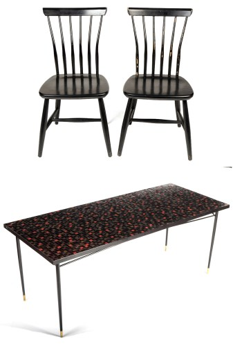 Lot 1316 - John Piper: a mosaic topped table, signed in...
