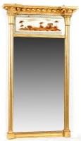 Lot 1319-A Regency burr gilt wood pier glass, with verre...