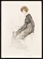 Lot 8 - Maurice Milliere (French 1871-?) A YOUNG WOMAN...