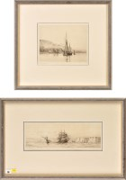 Lot 19 - Harold Wyllie (1880-?) A SAILING SHIP AND...