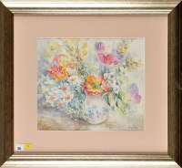 Lot 30 - Penny Ward (1914-2005) A SPRAY OF FLOWERS IN A...