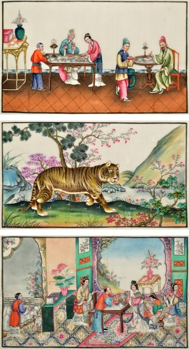 Lot 31-19th Century Chinese School SCENES OF IMPERIAL...