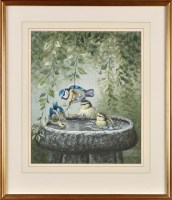 Lot 44 - Warwick Higgs (Contemporary) BLUE TITS IN A...