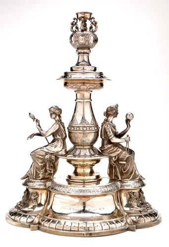 Lot 637-An ornate Victorian table centrepiece, probably...
