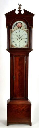 Lot 1092-D. Robb, Montrose: a George III mahogany longcase ...