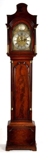 Lot 1094-Richard Smith, Newport: a mahogany longcase clock,...