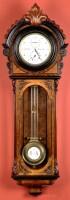 Lot 1096-A German walnut regulator wall timepiece, the...