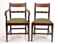 Lot 1131-A set of four single and two arm Regency period...