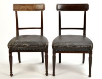 Lot 1133-A pair of late Regency mahogany dining chairs,...