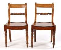 Lot 1246-A set of six Regency mahogany dining chairs, each ...