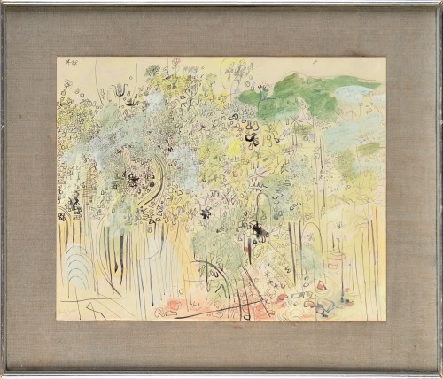 Lot 318-Anthony Gross ''GARDEN'' signed; with inscription ...