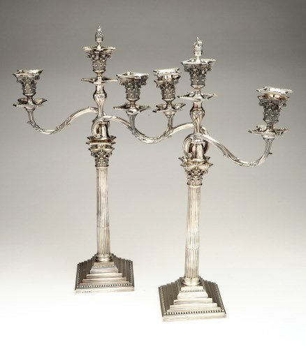 Lot 536-An impressive pair of Victorian candelabra, by...