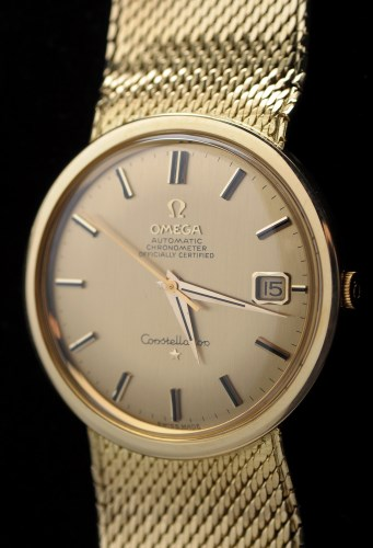Lot 609-Omega Constellation: an 18ct. gold cased...