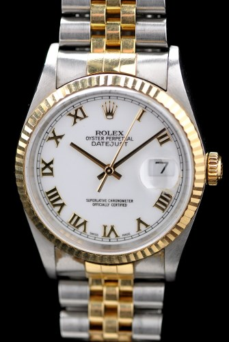 Lot 616-Rolex Oyster Perpetual Datejust: a gentleman's...
