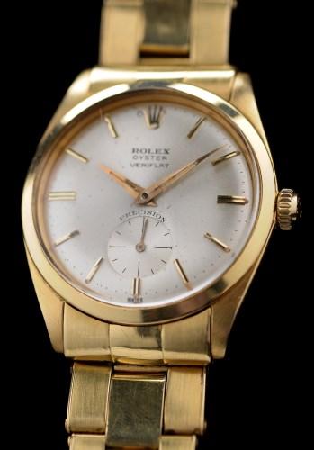 Lot 625-Rolex Oyster Veriflat: a gentleman's 18ct....