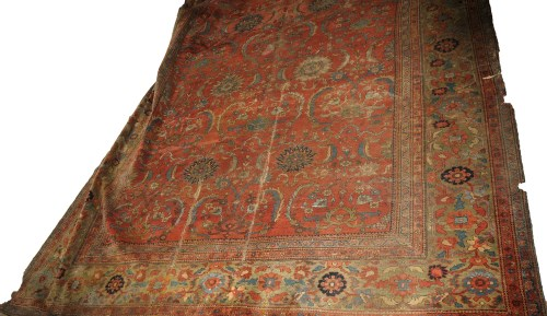 Lot 1095 - A large early 20th Ziegla Sultanabad carpet,...