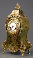 Lot 1121-A French boulle work mantel clock, late 19th...