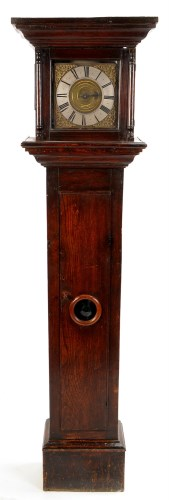 Lot 1140-An oak thirty hour longcase clock, late 17th/18th ...