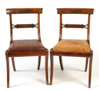 Lot 1162-A set of four Regency mahogany dining chairs, the ...
