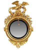 Lot 1178-A Regency gilt frame circular convex wall mirror, ...