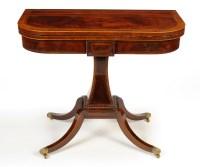 Lot 1196-A Regency style mahogany card table by Reprodux,...