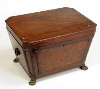 Lot 1282-A Regency mahogany sarcophagus-shaped wine cooler,...