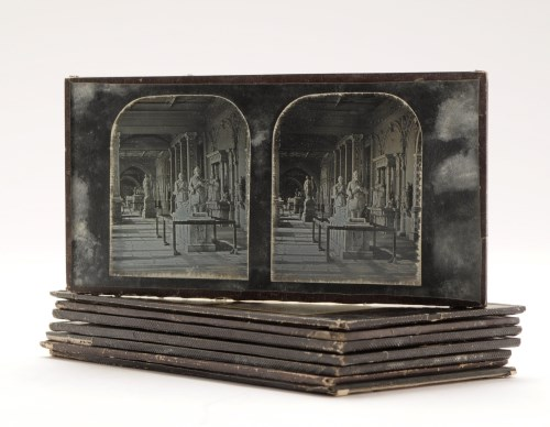 Lot 486-A collection of stereo-daguerreotype photographs, ...