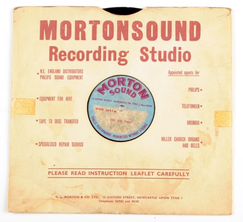 Lot 521-A rare acetate recording of the Kon Tors,...