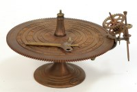 Lot 525-Part of a Parkes & Hadley Orrery, the table...