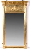 Lot 1287-A Regency pier glass mirror, the gilt frame with...